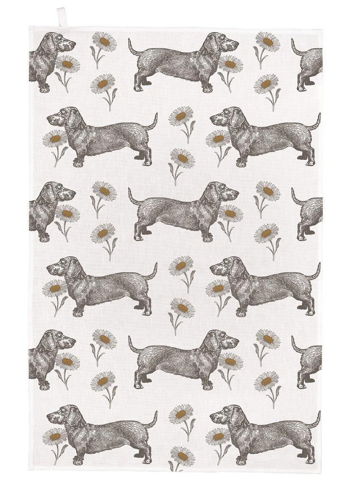 Thornback & Peel - 100% Cotton - Tea Towel - 47 x 77cms - Dog & Daisy