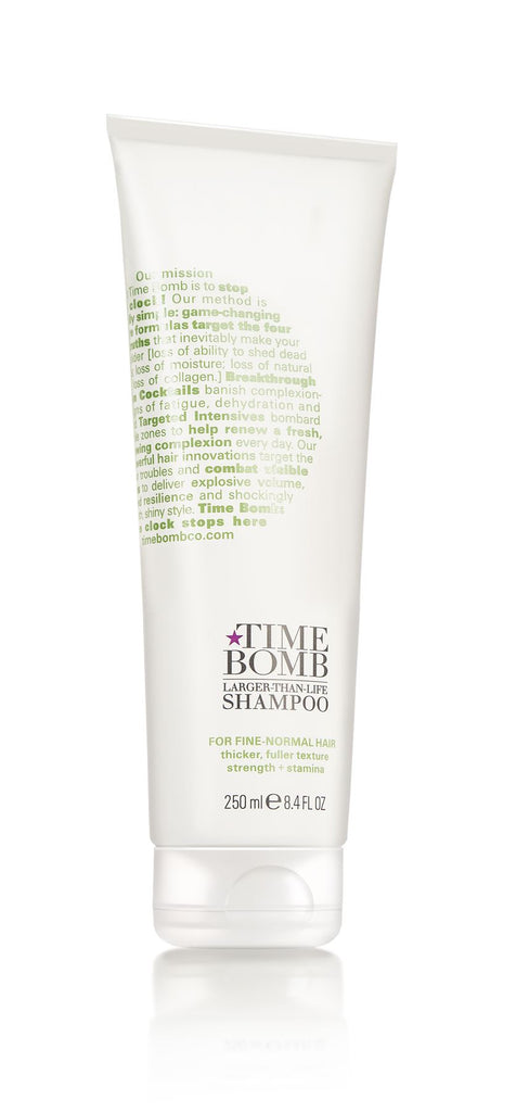 TIME BOMB - Operation Glam - Larger Than Life Shampoo - Fine to Normal Hair - 75 or 250ml