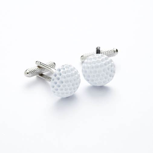 Novelty Cufflinks - White Golf Ball - CK183 - Onyx Art