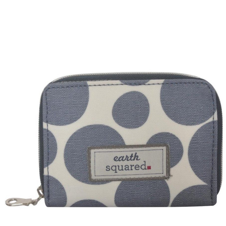 Earth Squared - Wallet/Coin Purse - Oil Cloth - Blue Spot -14x10cms