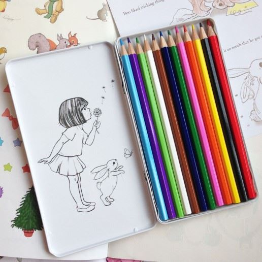 Belle & Boo - Tin of Colouring Pencils - Set of 12
