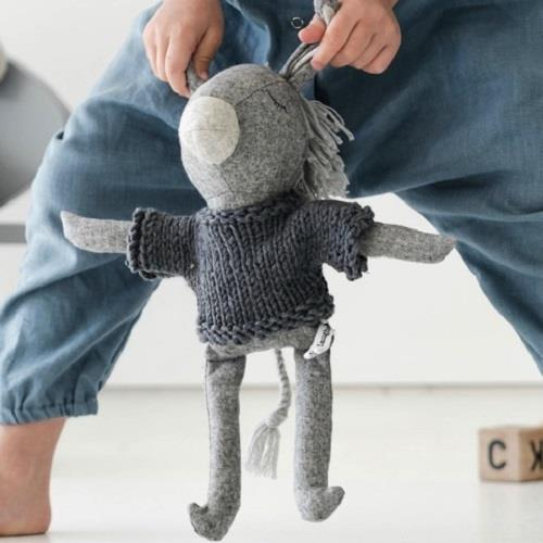 Oscar The Donkey - 35 cm Softie - and the little dog laughed