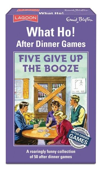 Enid Blyton - What Ho! - Five Give Up The Booze - 50 After Dinner Games - Lagoon Group