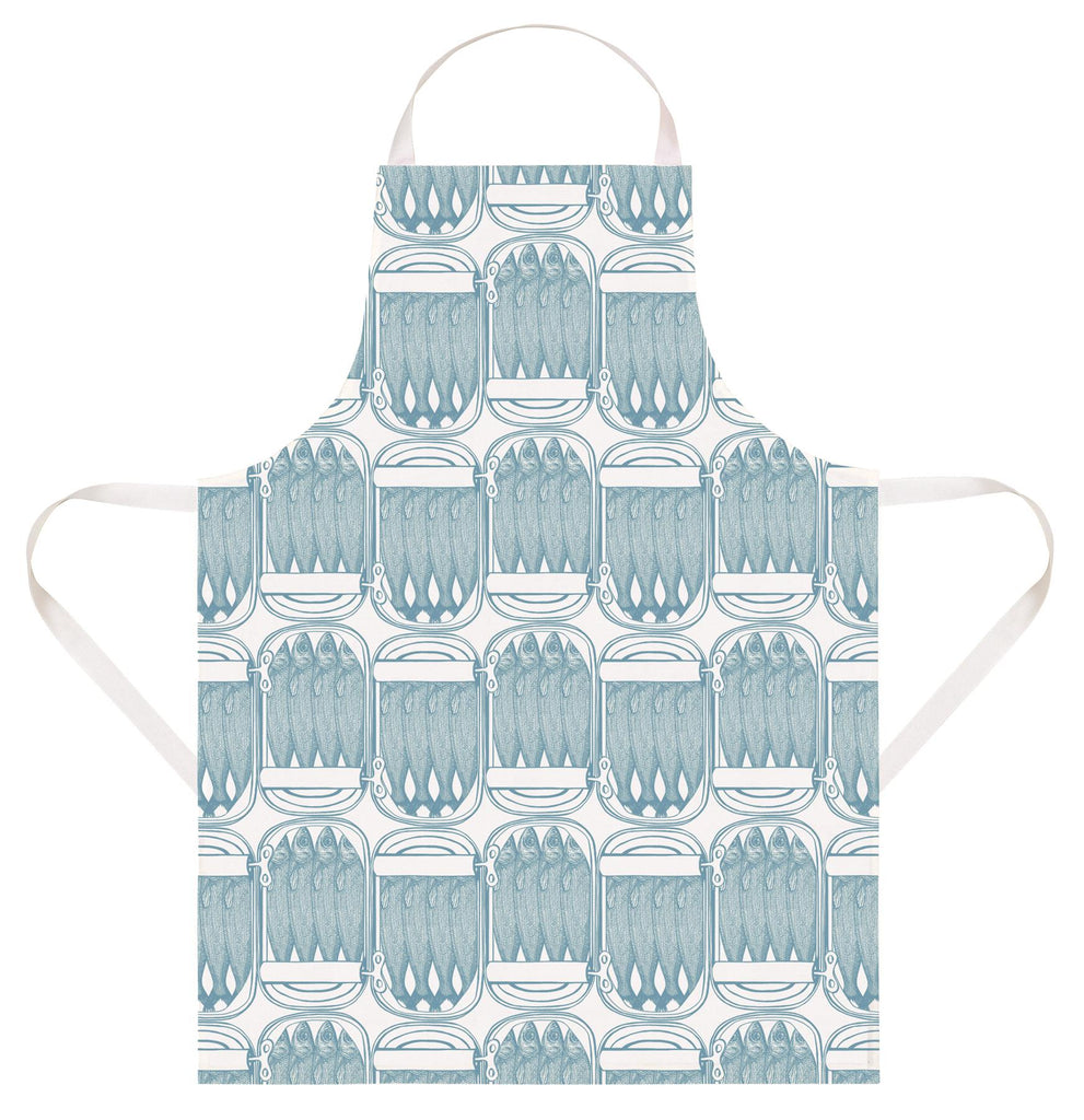 Thornback & Peel - 100% Cotton - Full Length Apron 60 x 80cms - Sardines
