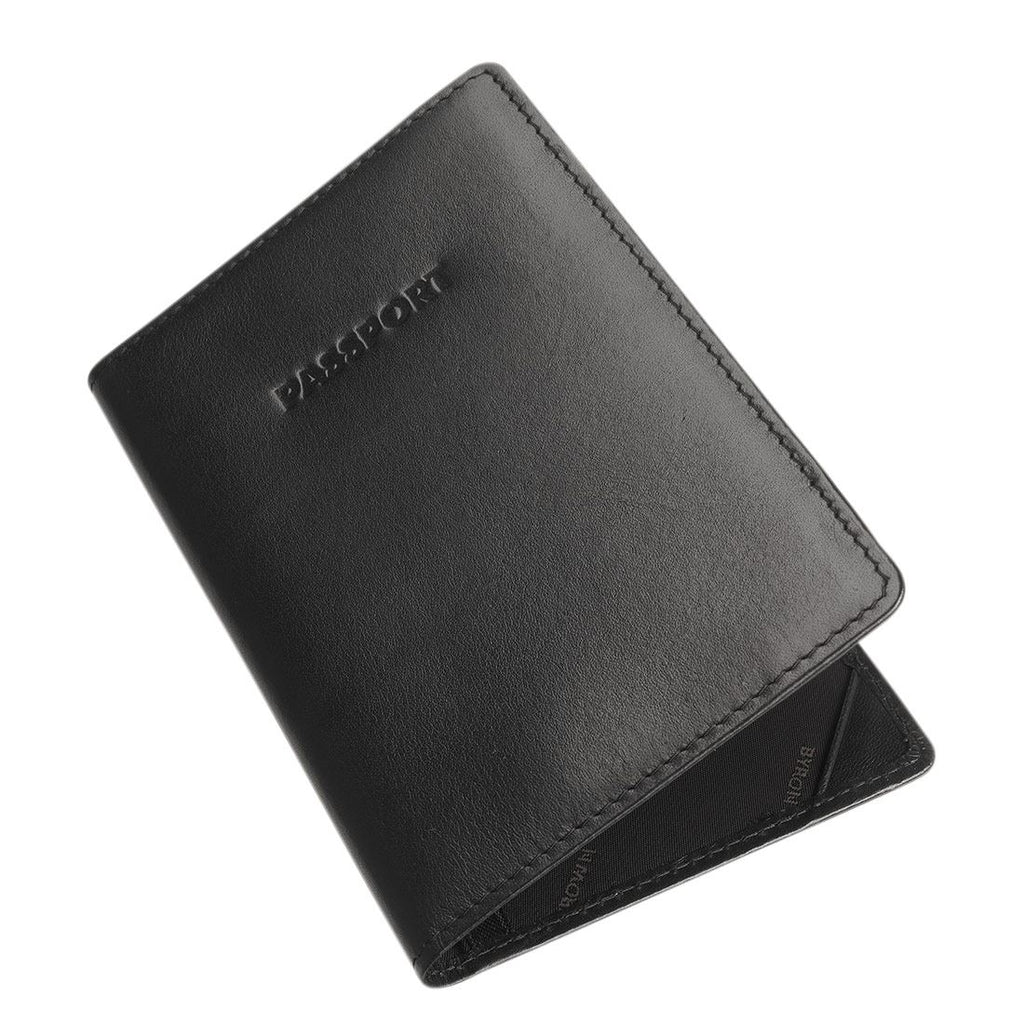 Byron & Brown - Passport Holder/Cover - Italian Leather - Gift Boxed