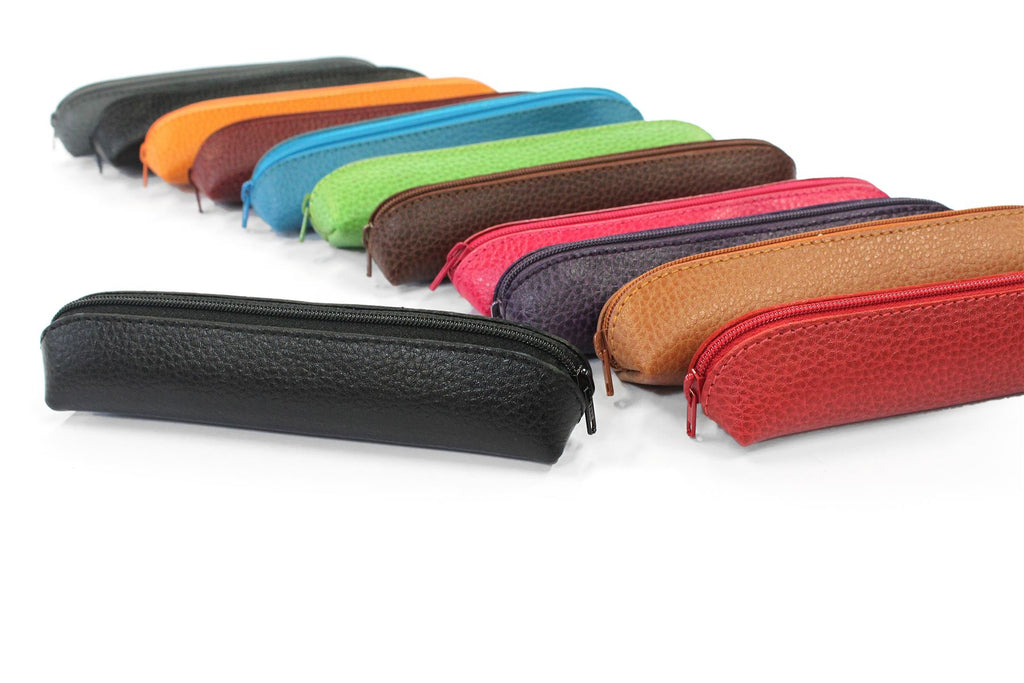 Mini Leather Purse - Pen/Make-Up/Applicator Holder by Laurige - Various Colours