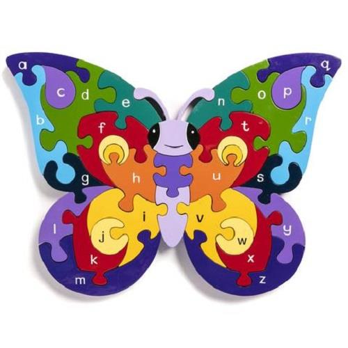 Alphabet Jigsaws - Butterfly A-Z Puzzle - Chunky, Bright & Educational - 34x20cms