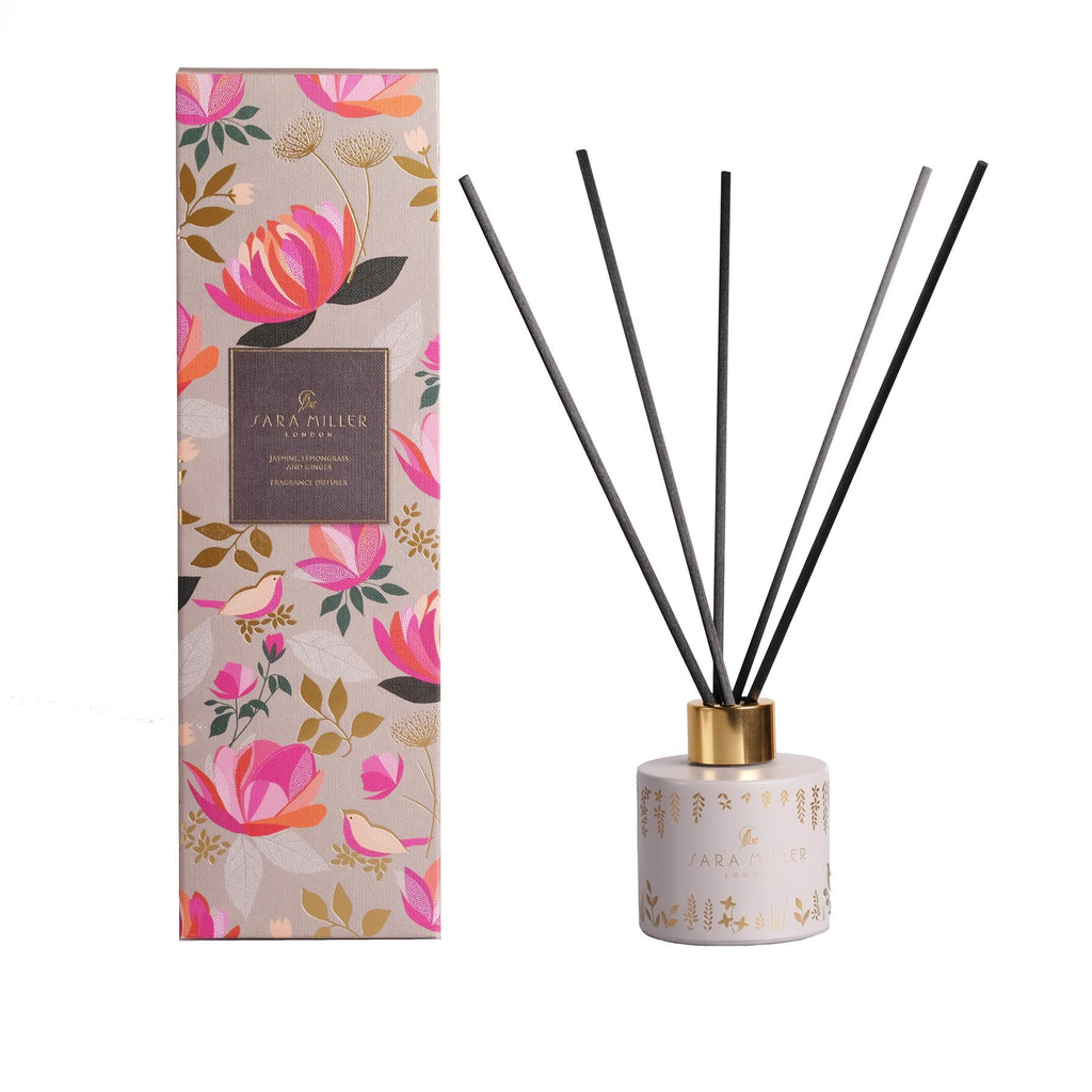 Sara Miller - Alcohol Free Room Diffuser - Jasmine, Lemongrass & Ginger 100ml
