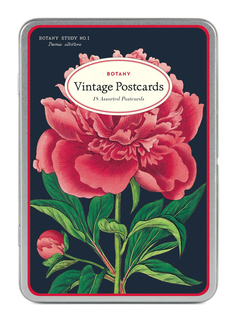 Cavallini - Carte Postale - Botany - Tin of 18 Postcards - 9 Designs/2 Per Design
