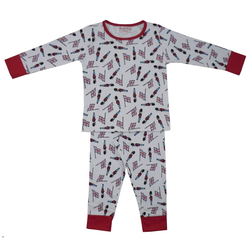 100% Cotton Knit Pyjamas - Beautifully Soft - Soldiers - Powell Craft - Ages 4-7 yrs