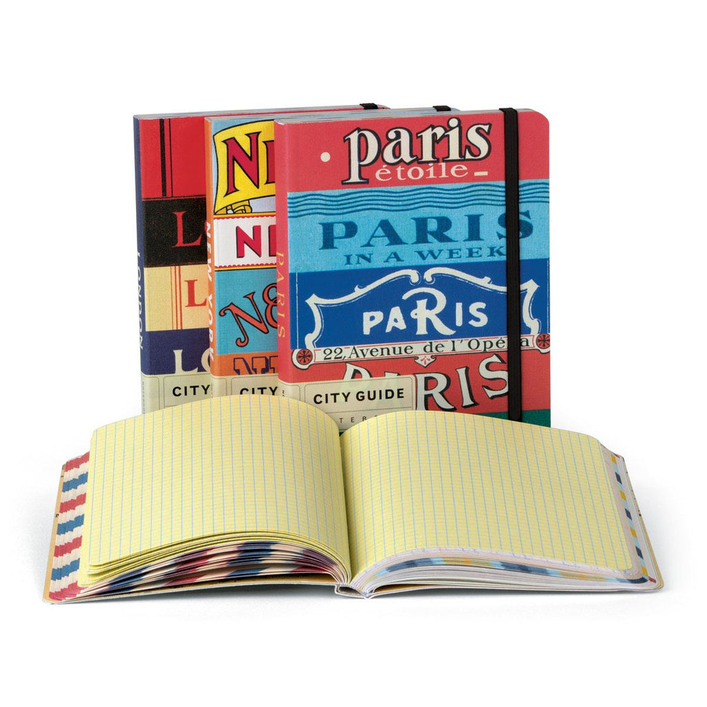 Cavallini - City Guide Notebook - Paris - 208 pages - Underground/Metro Map Included