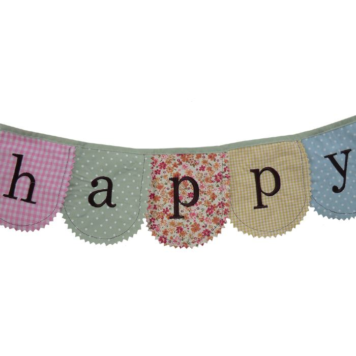 Bunting - Happy Birthday - Pink - 2m - Powell Craft