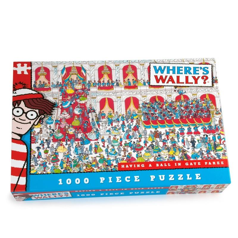 Where's Wally - 1000 Piece Jigsaw Puzzle - Having A Ball In Gaye Paree