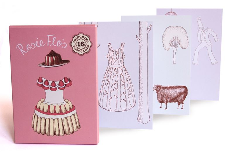 Rosie Flo's Colouring - Postcards - Girls