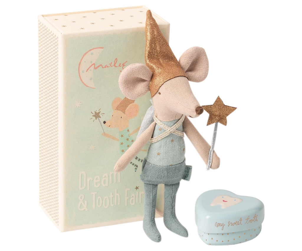 Maileg - Dream & Tooth Fairy Matchbox Mouse - Big Brother Mouse -13cms