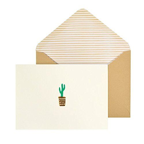 Cactus Card Set - 10 Blank Note Cards & Matching Envelopes - Portico Designs