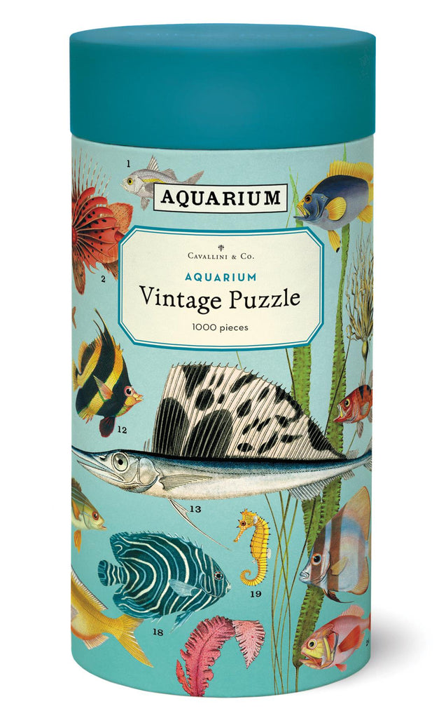Cavallini - Vintage Jigsaw Puzzle - 1000 Pieces - 55x70cms - Aquarium/Fish