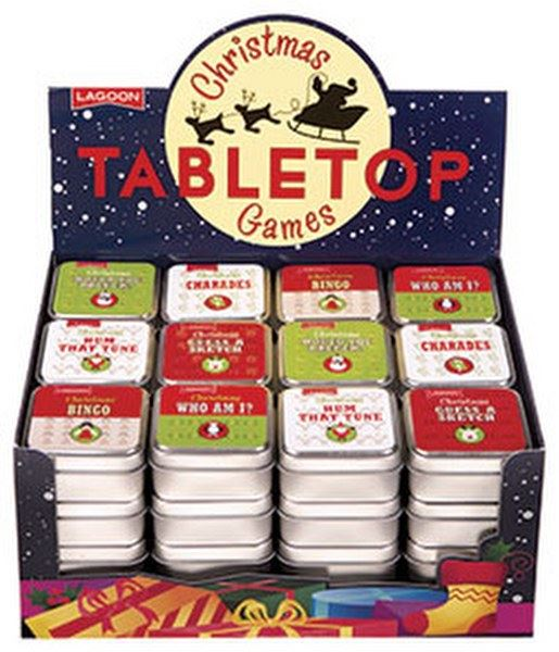 Lagoon - Christmas Themed Table Top Games For Kids - Sold Individually - Christmas Bingo