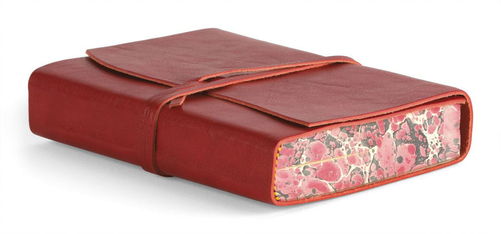 Cavallini - Leather Softbound Roma Lussa Journal - Available in 4 Colours - 6x8.5ins - 416 pages