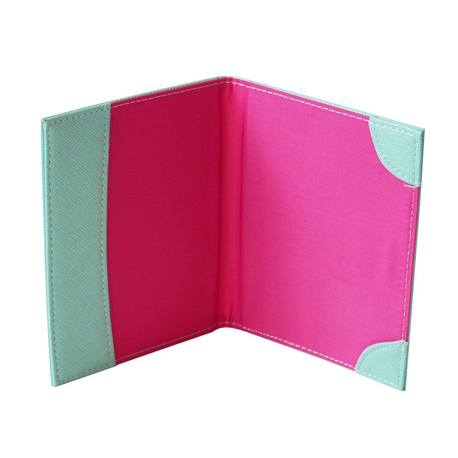 Bombay Duck - Monogrammed Alphabet Passport Holder With Metallic Letter - A to Z