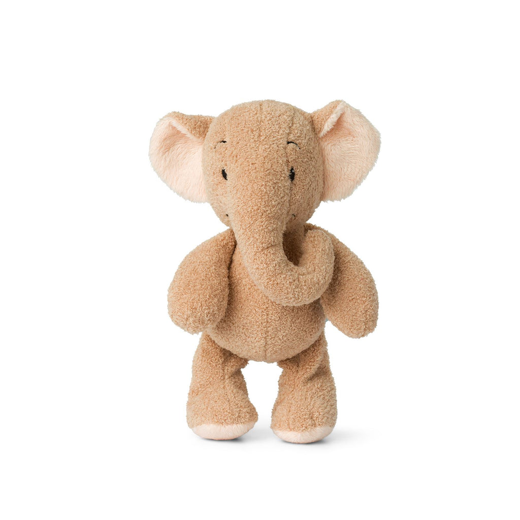 WWF Cub Club - Bon Ton Toys - Ebu The Elephant w/Crinkly Ears - Light Pink - 22cms - Suitable From Birth