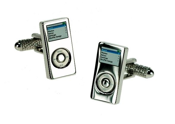 Novelty Cufflinks - Music Centre iPod - CK253 - Onyx Art
