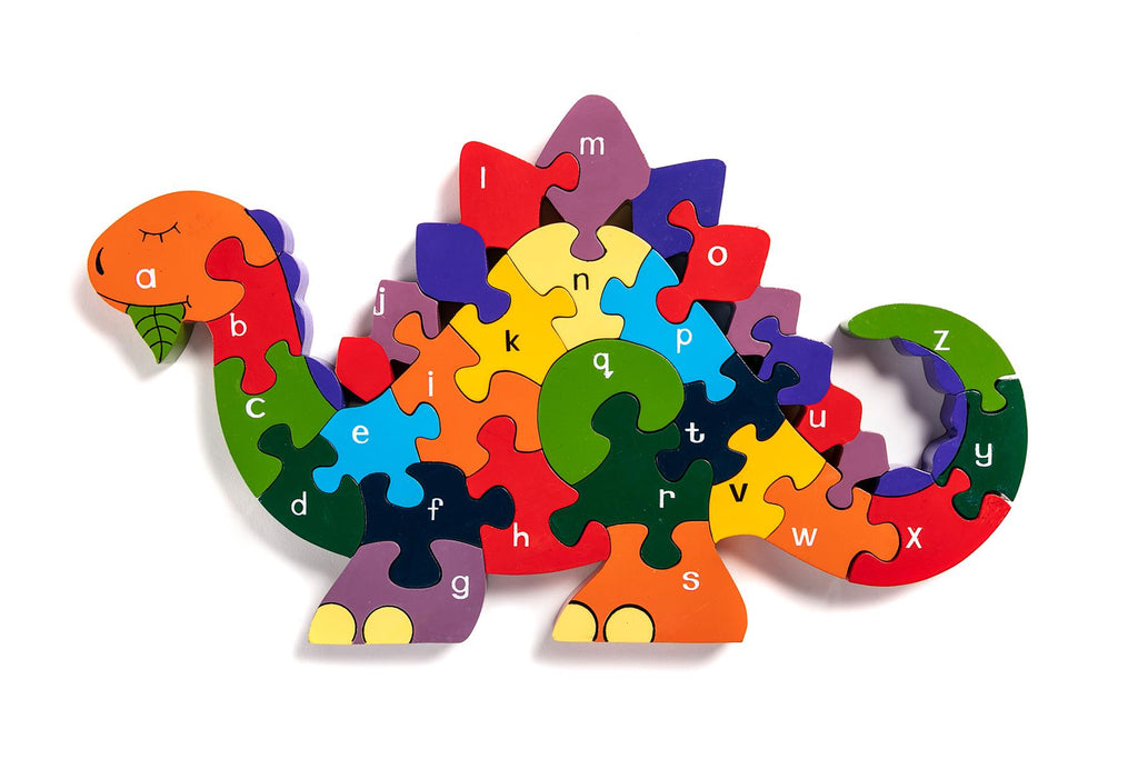 Alphabet Jigsaws - Dinosaur a-z Puzzle - Chunky, Bright & Educational - 33x19cms