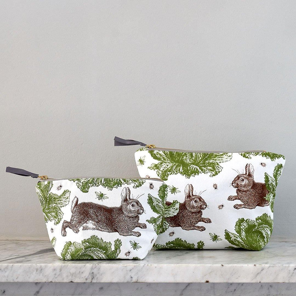 Thornback & Peel - Cosmetic/Make-Up Bag - Rabbit & Cabbage - Available In 2 Sizes