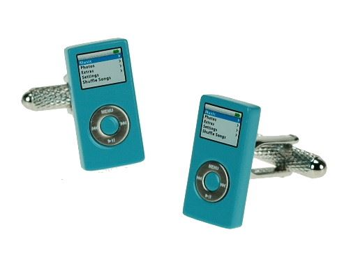 Novelty Cufflinks - Blue iPod - CK390 - Onyx Art