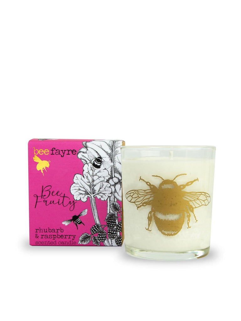 Beefayre - Bee Fruity - Rhubarb & Raspberry - Scented Candle - 20cl/50 hours