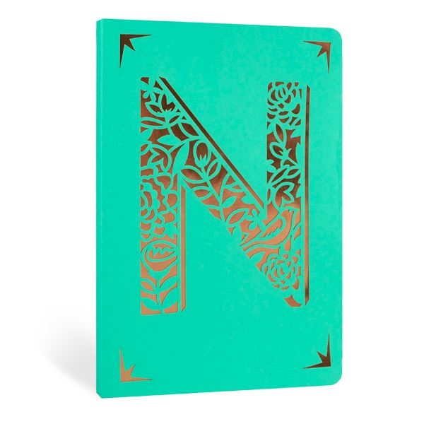 Monogrammed A6 Foil Notebooks - Available in A to Z and & - 124 Lined Pages - Portico Designs