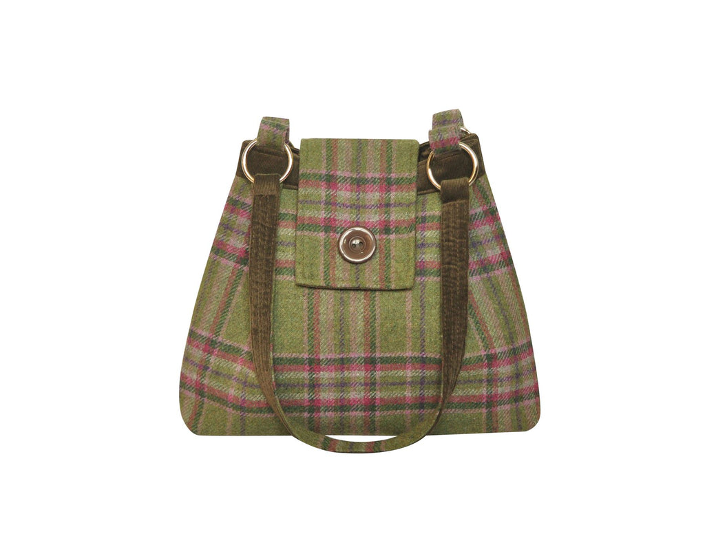 Earth Squared - Ava Bag - Shoulder Bag - Tweed Wool - Moorland - 34x26x10cms