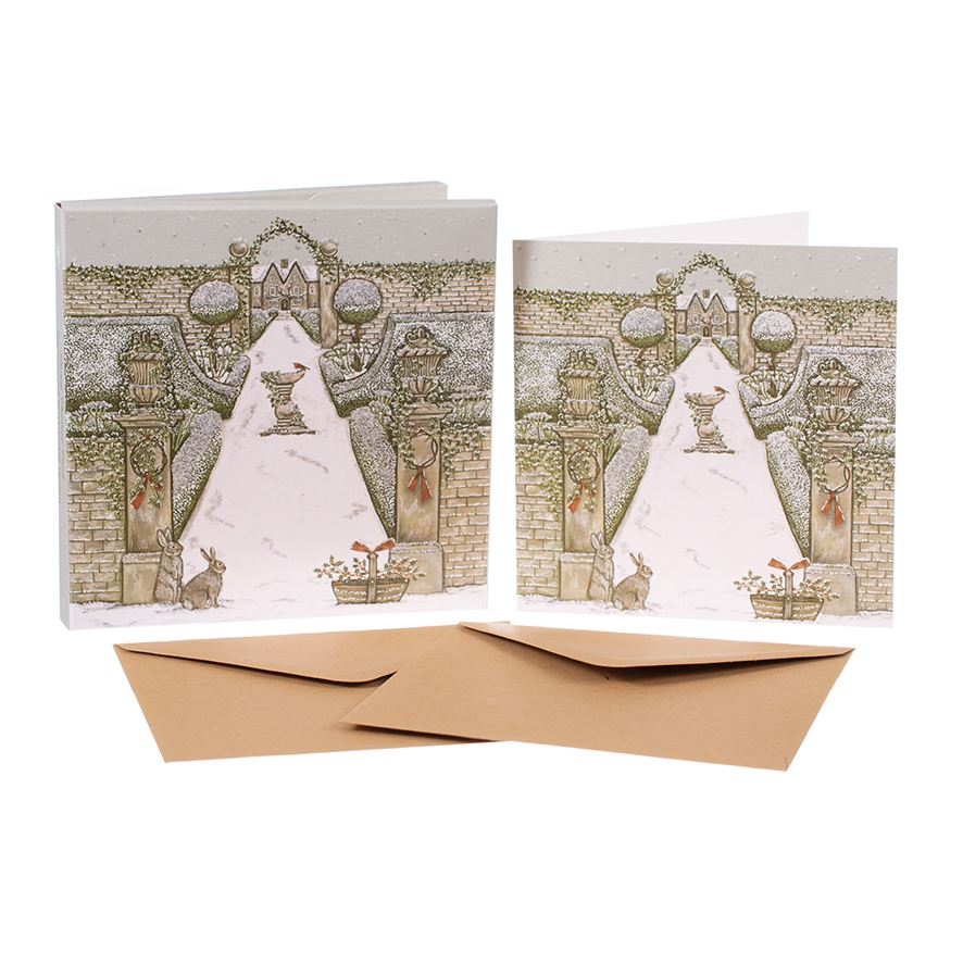 Magical Winter Garden  - Christmas Card Box Set - 8 Luxury Cards & Envelopes - Sally Swannell