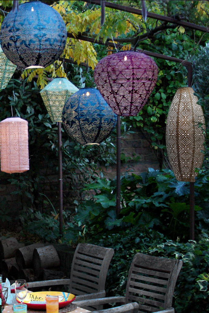 Solar Lantern - LED Outdoor Hanging & Table Light - Sold Individually - Oval
