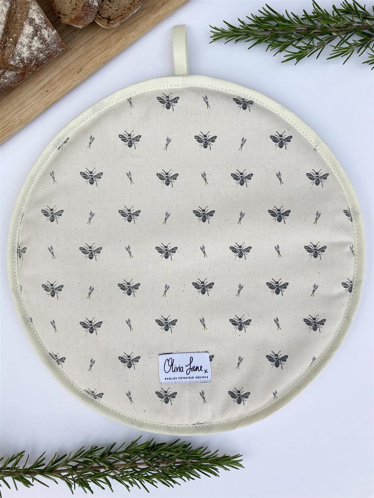 Olivia Jane Designs - 100% Cotton Hob/Range Cover 36 x 36cms - Flying Solo Bee