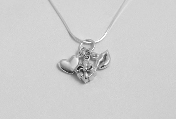 Sterling Silver - Romantic Girl Necklace - Tales From The Earth - Presented In Pale Blue Gift Box