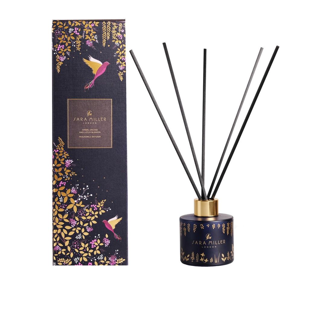 Sara Miller - Alcohol Free Room Diffuser - Amber, Orchid & Lotus Blossom 100ml