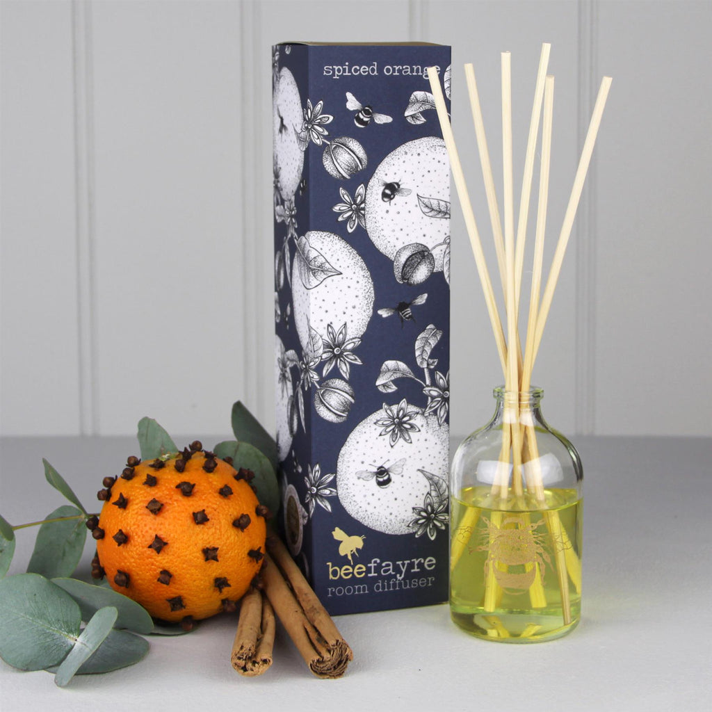 Beefayre Bee Jolly - Spiced Orange - Room Diffuser - 100ml - Alcohol Free/Vegan Friendly