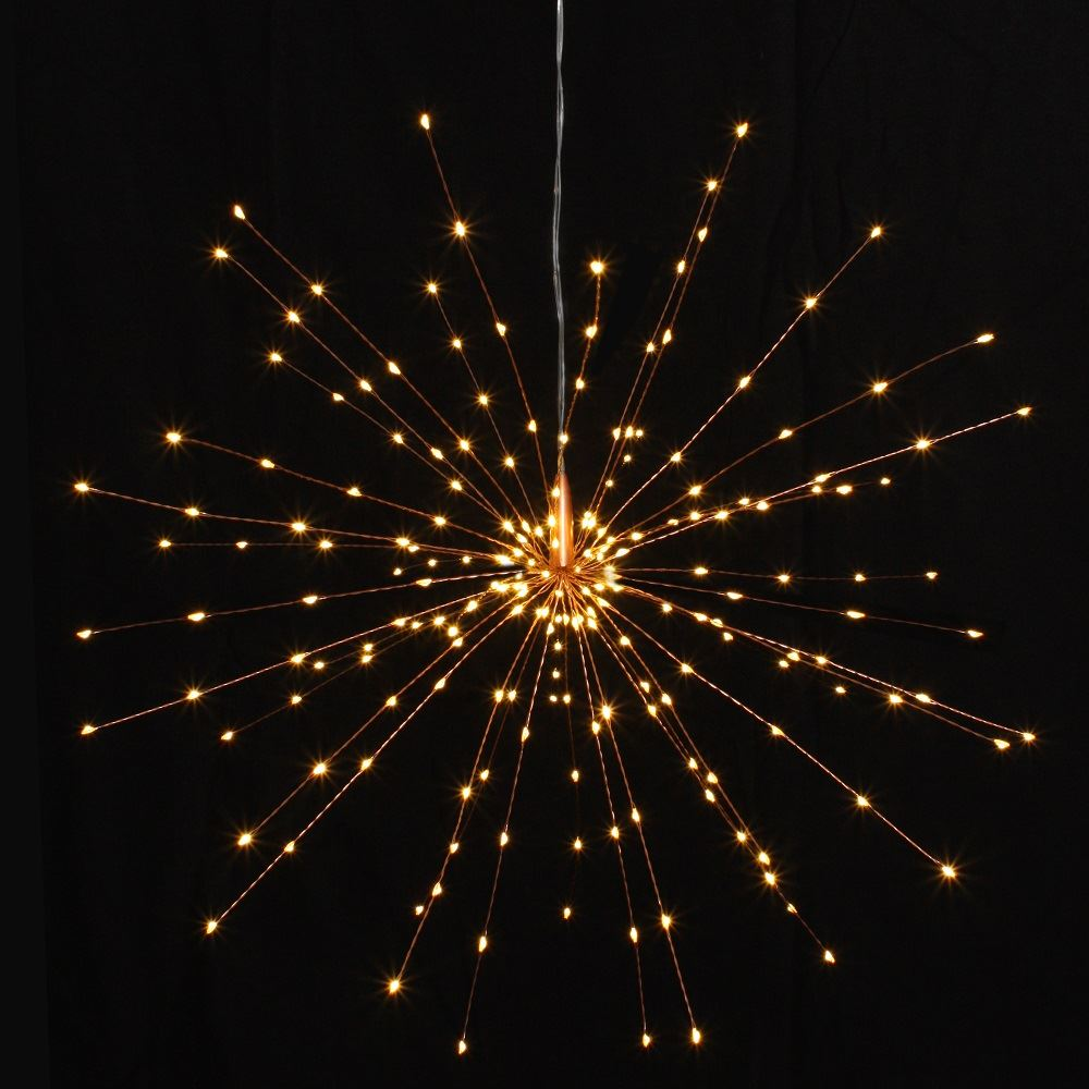 Copper Starburst - 50cms - 200 LED Indoor/Outdoor Light Ornament - Mains Powered