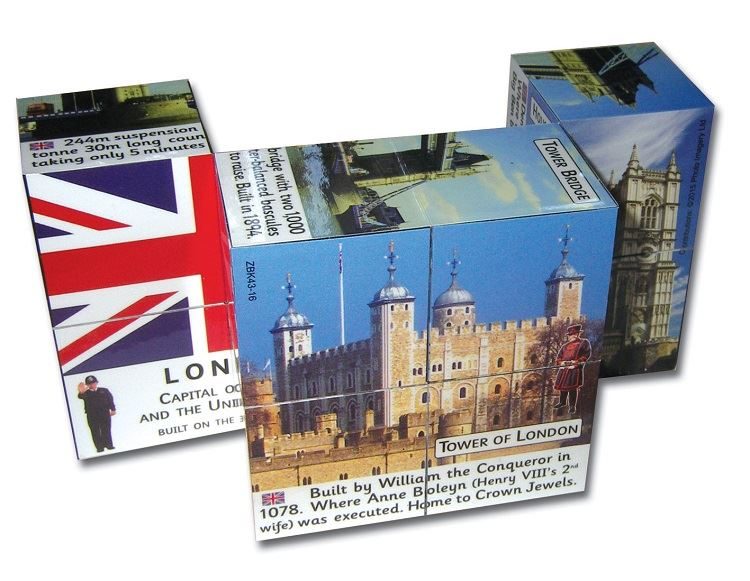 Cube Books - London Attractions - Facts & Figures by ZooBooKoo