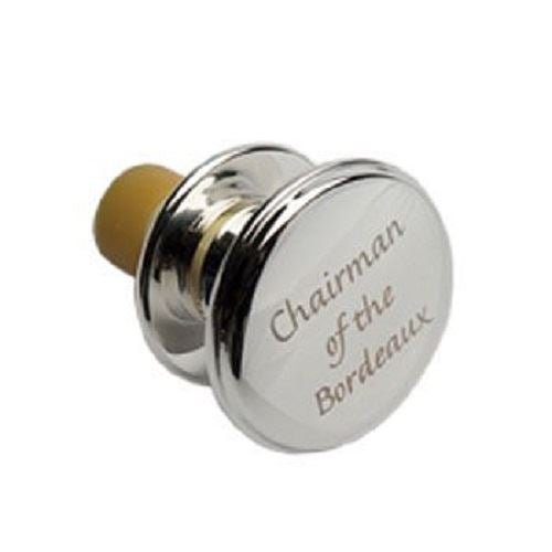 Roberts & Dore - Silver Plated Bottle Stopper - Chairman Of The Bordeaux - Gift Boxed