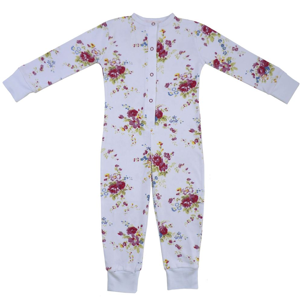 100% Cotton All-In-One/Onesie - Beautifully Soft - Floral - Powell Craft - Ages 2-12