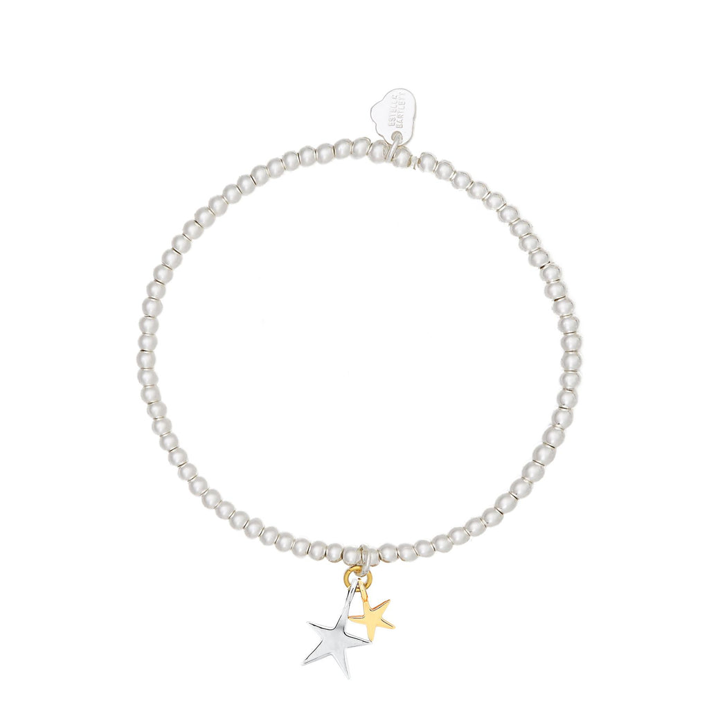 Sienna Double Star Bracelet - Gold & Silver Plated - We Are All Made Of Stardust - Estella Bartlett