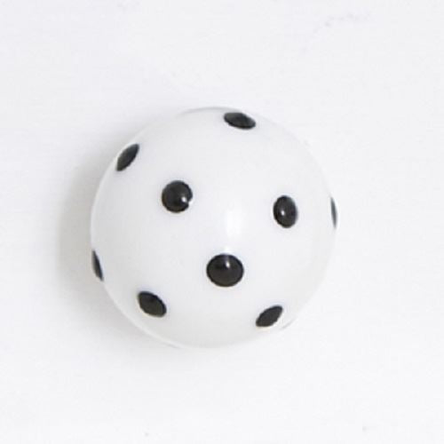 Bombay Duck - Opaque Glass Cupboard/Drawer Door Knob - White with Black Spots