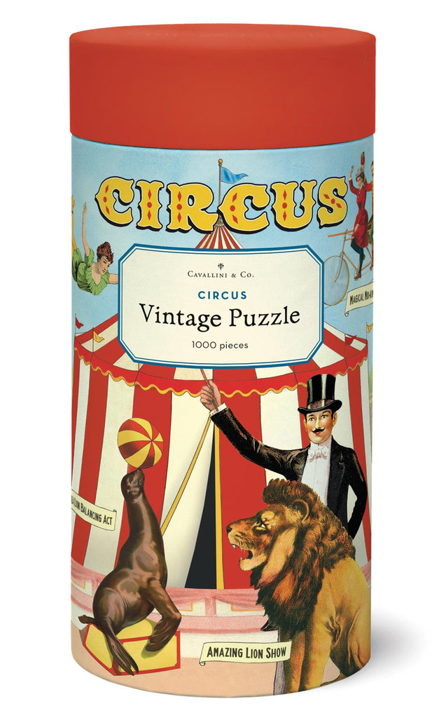 Cavallini - Vintage Jigsaw Puzzle - 1000 Pieces - 55x70cms - Circus