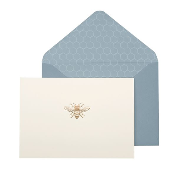 Bee Card Set - 10 Blank Note Cards & Matching Envelopes