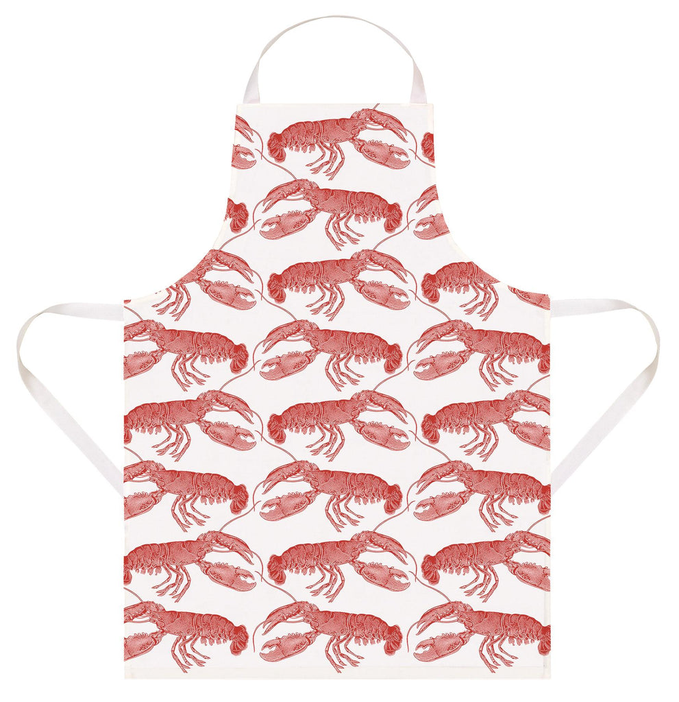 Thornback & Peel - 100% Cotton - Full Length Apron 60 x 80cms - Lobsters