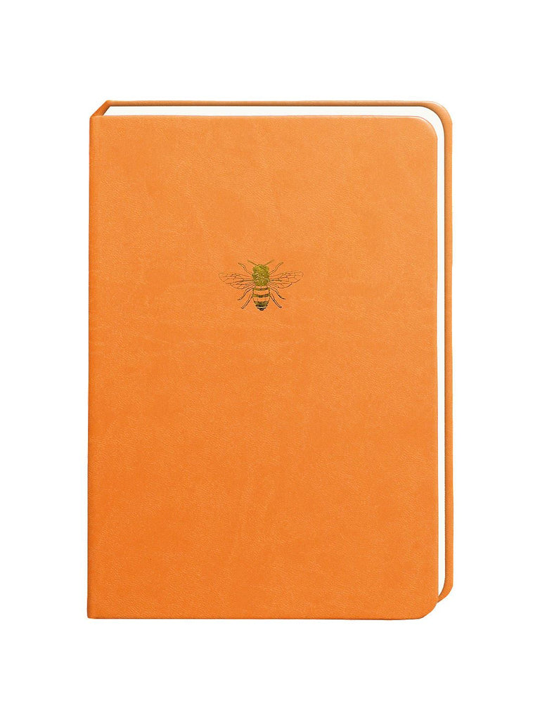 Sky & Miller - Faux Leather Journal/Notebook - Bee - Orange/Gold - A5/300 Lined Pages