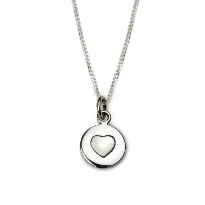 Sterling Silver - Love Circle Necklace - Silver Heart - Tales From The Earth - Presented In Pale Blue Gift Box
