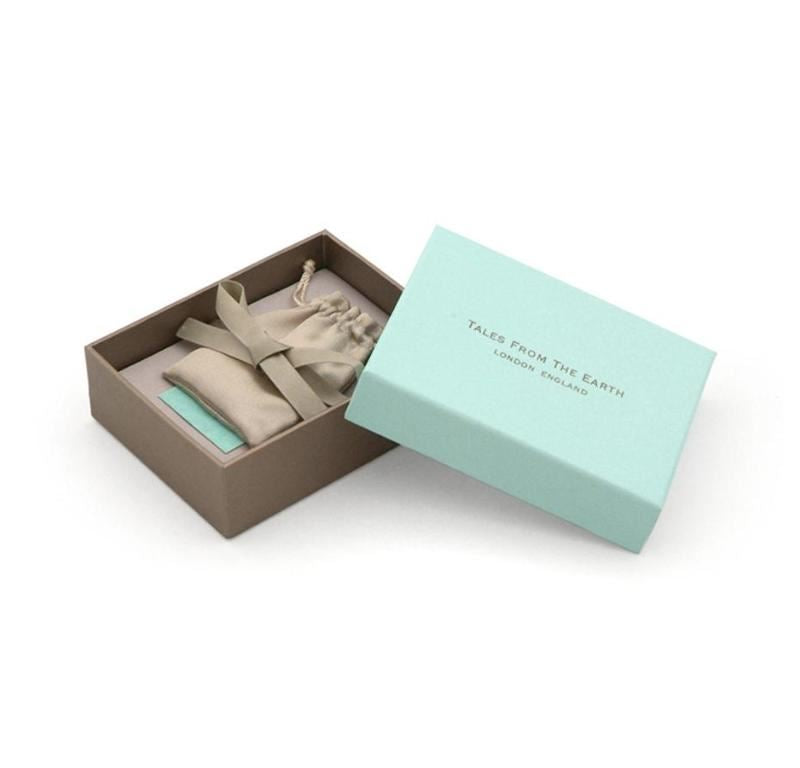 Silver Plated - First Tooth Box - Tales From The Earth - Presented In Pale Blue Gift Box - Perfect Christening/Naming Day Gift